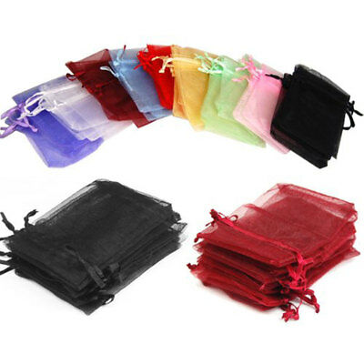 50pcs Wedding Jewelry Candy Organza Drawstring Favour Gift Mini Bags Pouches