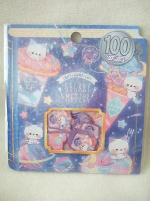 Kamio sticker pack 42 pcs NEW  flake seal  Cat Cafe sweet galaxy cafe
