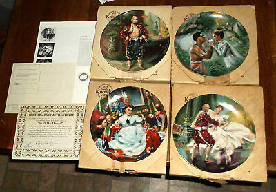 1985 Limited Edition Four The King And I Knowles Collector Plates Set MIB w/ COA