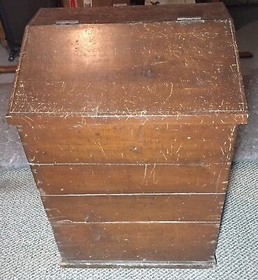 Antique Country Primitive Wood Potato Onion Coffee Wooden Bin Early 1900s
