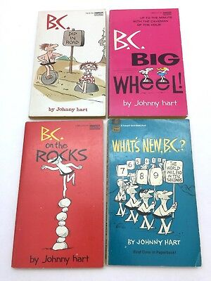 Vintage B.C. Paperback book collection lot of 4 by Johnny Hart