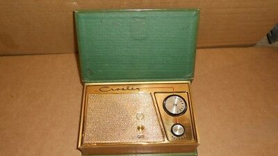 Vintage Crosley Model JM-8GN Magic Mood Book Shelf Transistor Tube Radio
