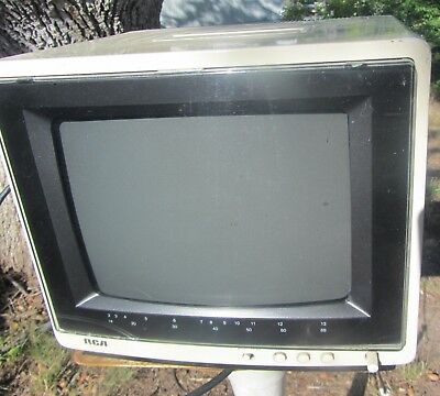 "VINTAGE RCA 9"" XL-100 XL100 1980s Portable Retro Television Gaming Working Clean"