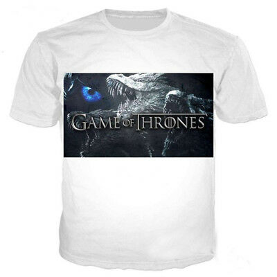 New Women/Men Game of Thrones Fairy Dragon Funny 3D Print Casual T-Shirt Tee T10