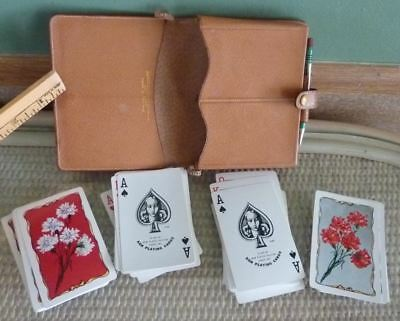 Rare Abercrombie & Fitch England Kem Playing Cards Flower Bouquets 2 Decks 1935