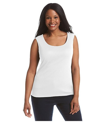 Studio Works woman's Plus Size Solid TankTop lot of  6 COLORS SOLD TOGETHER 3XL