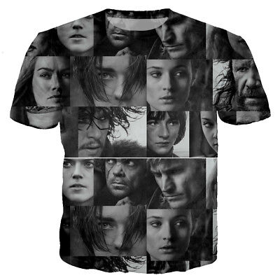 Women/Men Game of Thrones Character 3D Print Casual T-Shirt Tee Short Sleeve T11