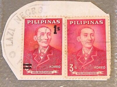 Rare Pilipinas stamp,one with a different surcharge and the other is regular
