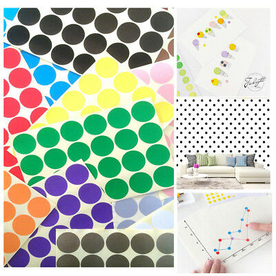5X ALL SIZE Dot Stickers Round Colorful Spot Dots Paper Labels Circles Tool #rt