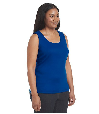 Studio Works Woman's Plus Size Solid Tank top lot of 6 COLORS  2XL MSRP $120