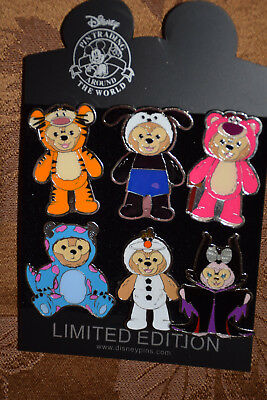 Disney 6 pc Pin lot Duffy Costume Olaf Sully Tigger Maleficent Oswald Lotso NEW!