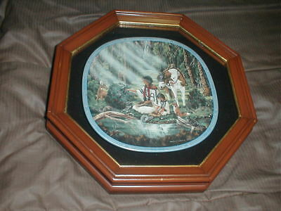 """""""The Healer"""" Collector Plate in Wood/Glass Display Case"""
