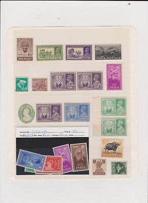 India Older  Mint Stamps Page