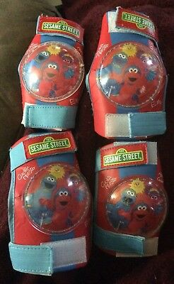 Lot (2) Knee & (2) Elbow Pads Red Sesame Street Bicycle/Skating Gear