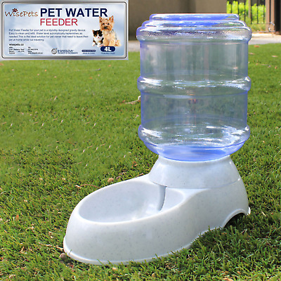 4/11 L, Large Automatic Pet Dog Cat Water Feeder Bowl Bottle Dispenser Plastic