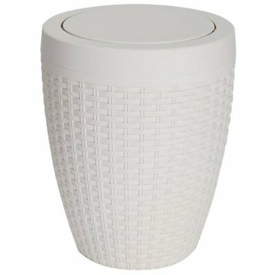 Addis 5 Litre Faux Rattan Swing Bin - Cream From the Official Argos Shop on ebay
