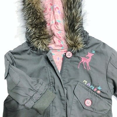 Mambo Sz 00 Jacket Faux Fur Bomber Jacket Baby Girl Coat #absolute-value