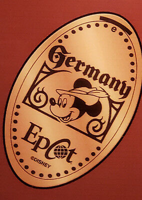 Disney World Pressed Smashed Elongated Penny Mickey Mouse GERMANY EPCOT   P75