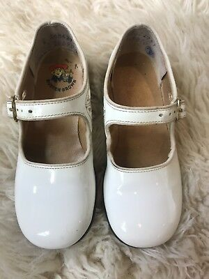 Vintage White Buster Brown Dress Shoes Wedding Dressy Toddler Size 7.5