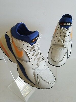 06305e2d9c Mens Nike Air Max 93 Citrus Running Shoes Size 8.5 White Blue Yellow  306551-100