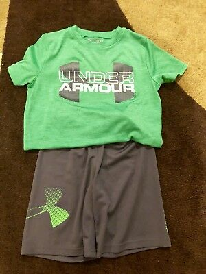 Under Armour Boys Sz 7 and small Outfit Shorts & Shirt