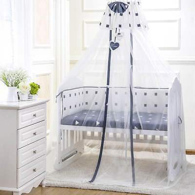 Kids Baby Cot Bed Mosquito Net Curtain Canopy Dome Mesh Nursery Summer Bumper