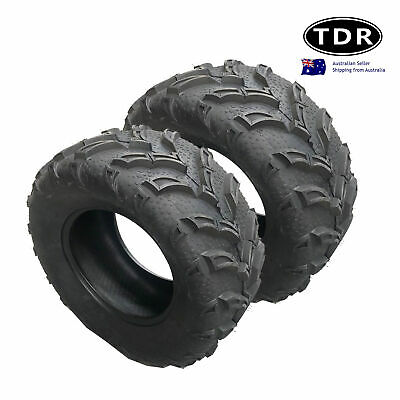 2x QIND 25x10-12 6Ply Tyre ATV UTV Quad Bike 12 inch tire side by side buggy 12