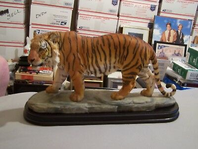 Bengal Tiger Collectible Resin Figure 11 1/2'' Long Unsigned