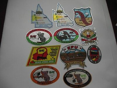 11 Mixed Mining Stickers, in mint condition