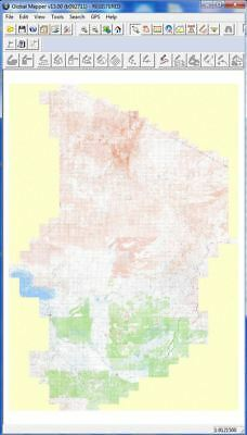 Chad 1:200,000 Scale National Topo Map Mosaic GIS Base Map