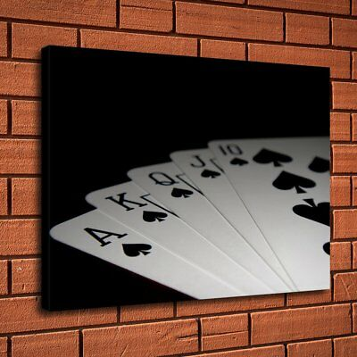 Royal Flash Poker Home Decor Room HD Canvas Print Picture Wall Art Painting 7547