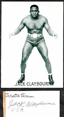 Professional Wrestler Jack Claybourne signed + photo