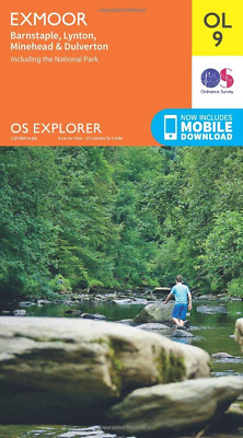 Ordnance Survey Explorer OL9 Exmoor Map With Digital Version