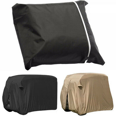 4 Seats Passengers Golf Cart Storage Cover For EZ Go Club Car Taupe Waterproof