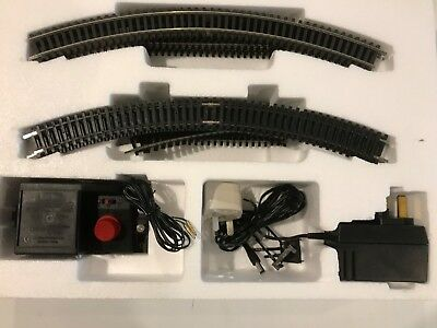 Hornby New 00 Starter Track Set Oval With Siding. Nickel Plated Track,