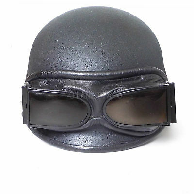 Original Surplus Chinese Type 54 Pilot Goggles Genuine Leather Frame