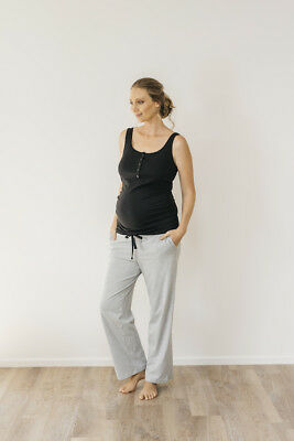 NEW noosa day pant in grey marle Maternity