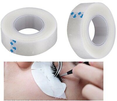 2 Rolls Eyelash Individual Extension Supply Medical Tape Clear Technician - 1/2""