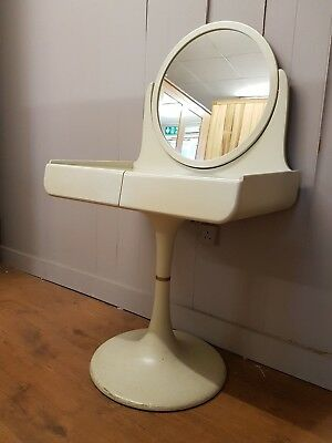 1960s Isku Space Age Dressing Table and Mirror