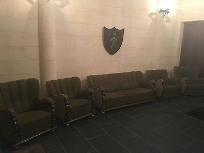 Antique 7 Seater 5 Piece Lounge Suite Solid Wooden Carved Frame
