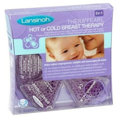 Lanisoh Breast Therapy Therapearl 3-in-1 Hot/Cold Breast Feeding Therapy New
