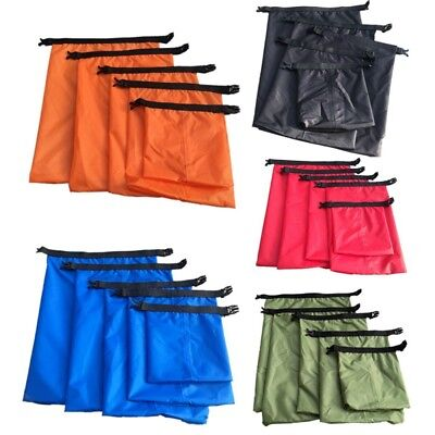 5pcs/Set Dry Bag Pouch Rafting Boating Kayaking Camping Hiking Waterproof Sack
