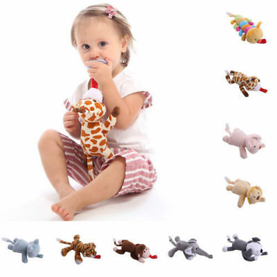 Baby Dummy Pacifier Chain Clip Plush Animal Toy Boy Girl Soother Nipple Holder w