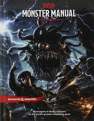 Dungeons & Dragons Monster Manual 5th Edition - D & D Core Guide - Role Playing