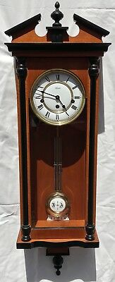Franz Hermle Westminster Chimes Strike Silent Wooden Wood Finial Wall Clock