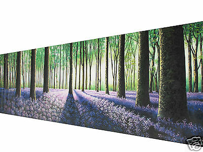 Commission Art painting Original Landscape Tree forest woods green