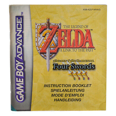 GBA Anleitung Zelda A Link To The Past + Four Swords Sehr Guter Zustand!