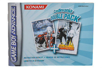 Game Boy Advance GBA Anleitung Castlevania Double Pack Sehr Guter Zustand!