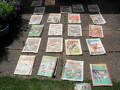 Job Lot Comics-Approx 130 Hotspur/tiger/victor/dandy/commando Late 70S And 80S.