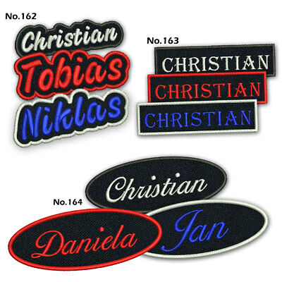 Custom Name Patch Embroidered Iron On Biker MC Tag Motorcycle Airsoft Badge